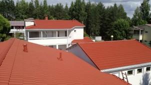 Lopputuloksena uuden veroiset katot.